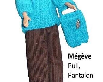 Megève, sweater, pants, hat, bag for Barbie