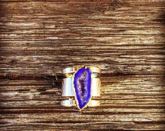 Adjustable Druzy Ring