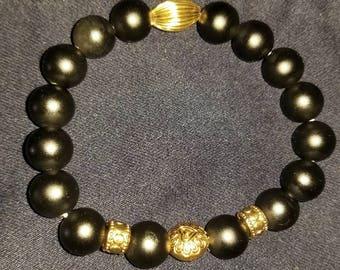 Black matte beads