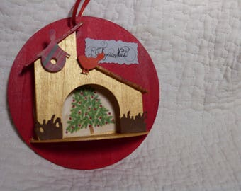 Customized wooden Christmas ball to put on your tree or decor