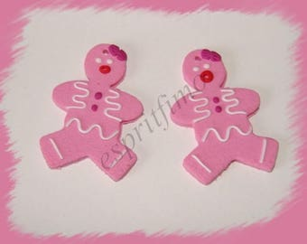 """""""Mrs gingerbread"""" charm in polymer clay"""