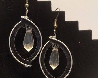 Coffee Brown cap earrings