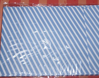 SET OF 10 ENVELOPES 114 X 162 STRIPES WHITE AND BLUE