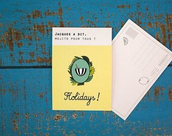 """Postcard """"Simon says, Mojito for all"""" / Holidays"""
