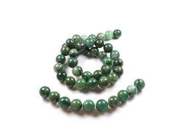 10 African jade beads 8mm LBP00518 natural