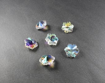 5 pendants Snowflake Glass * Christmas tree * approximately 14mm