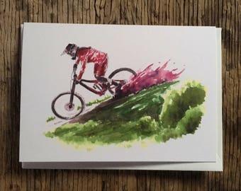 Cycling Card, Mountain Bike Card, Girls who Shred , Bike Illustration