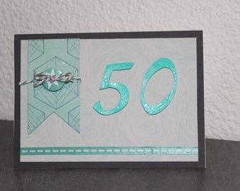 50 3D birthday card, 50 men or women