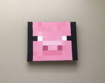 Minecraft pig portrait