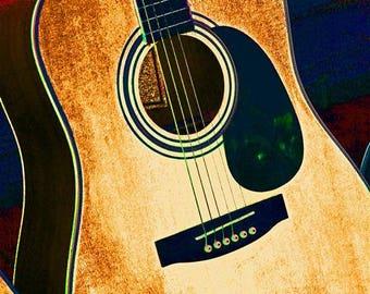Acoustic Guitar, artistic photo
