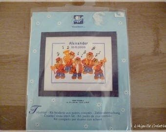 """The musicians"" cross stitch Kit new"