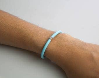 Click Diamond bracelet Light Blue