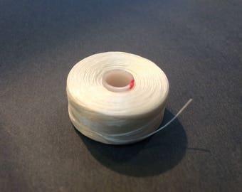 1 reel wire C - LON D 0.30 mm white peyote stitch