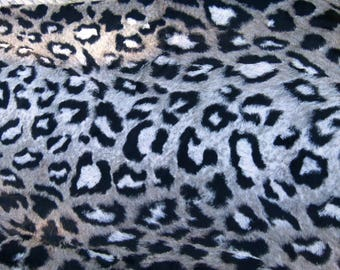 High fashion faux fur leopard sold by 50 cm x 1 m 40 fabrics coupon cut to desired size