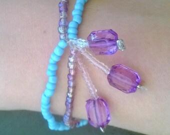 Purple/turquoise Stretch Bracelet