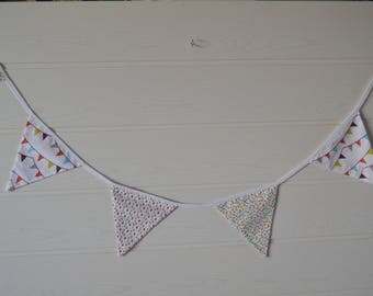 Garland pennants to hang in a little girl's room
