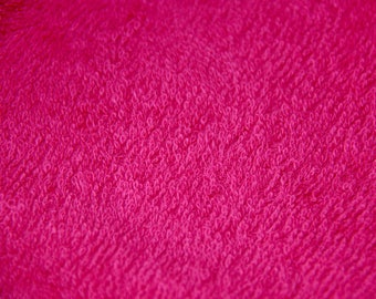 400G 100% COTTON PINK TERRY CLOTH