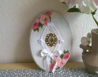 Wall hanging wood frame romantic shabby chic