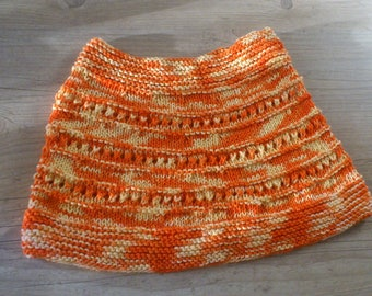 orange knit skirt mottled cotton 10 trend