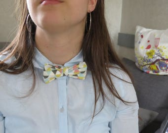 Hand made bow tie Triangles.
