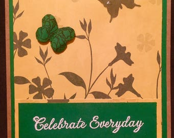 Celebrate Everyday - Greeting Card - Blank Inside; matching envelope