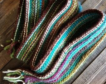 Warm multicolored scarf!