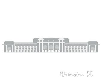 Washington DC Greeting Card Union Station A2