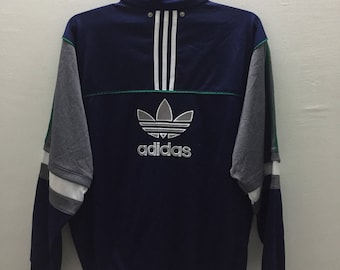 VINTAGE 90s ADIDAS Trefoil Big Logo Spell Out Embroidered