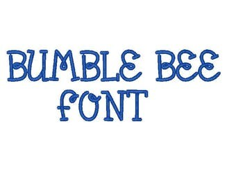 Bumble Bee Embroidery Font.  comes in 3 sizes in 10 formats