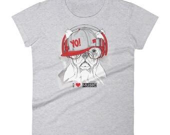 I love music Women's short sleeve t-shirt