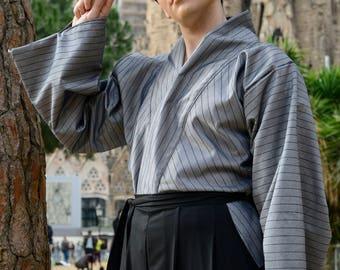 Kuroumigame 黒海亀 Hakama Unisex Kimono set