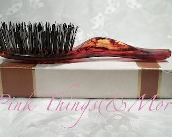 AVON Vintage Hair brush Hairbrush Tortoise color Mini fits in purse 1960s