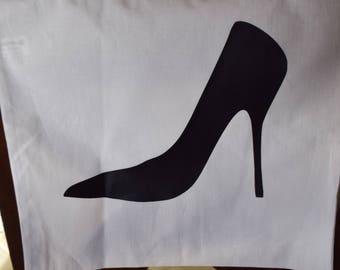 Stiletto Heel Canvas Bag