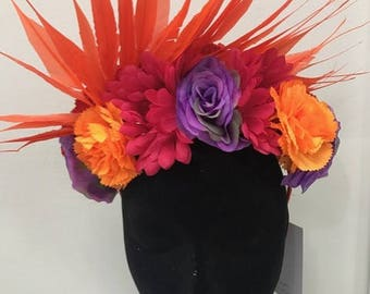 Flower & Feather Crown