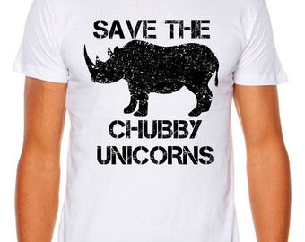 Save the Chubby Unicorn Funny AS Colour Men's, Women's and Unisex Tees and Singlets