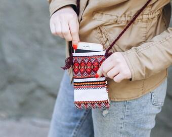 Hippie Crossbody Purse Boho Shoulder Bag Hobo Purse Boho Shoulder Embroidery Ethnic Bag Gift Cell Phone Wallet Ethnic Bag Festival Bag
