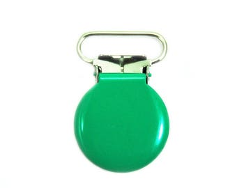 25mm round green crocodile strap pacifier clip