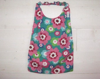 Personalized napkin, towel canteen sleeves with elastic bib for the canteen or home vintage flowers