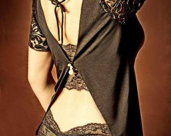 Short sleeved BRA top, artistique fashion by Tangolace