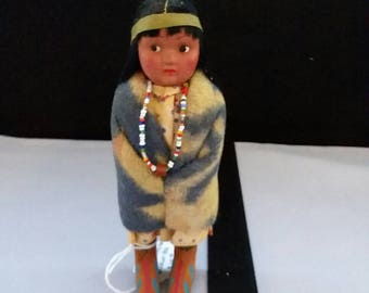 Vintage, Patented, Indian, Native American, Skookum Doll