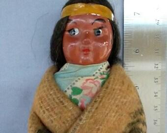 1920's Vintage, Indian, Native American, Skookum Doll