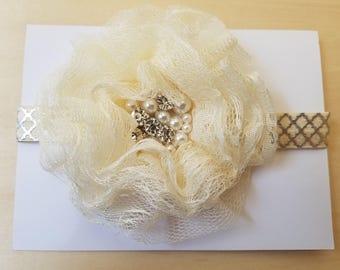 Elegant elastic headband