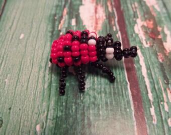 Ladybug beaded figurine