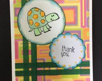 HandMade Thank You Greeting Card