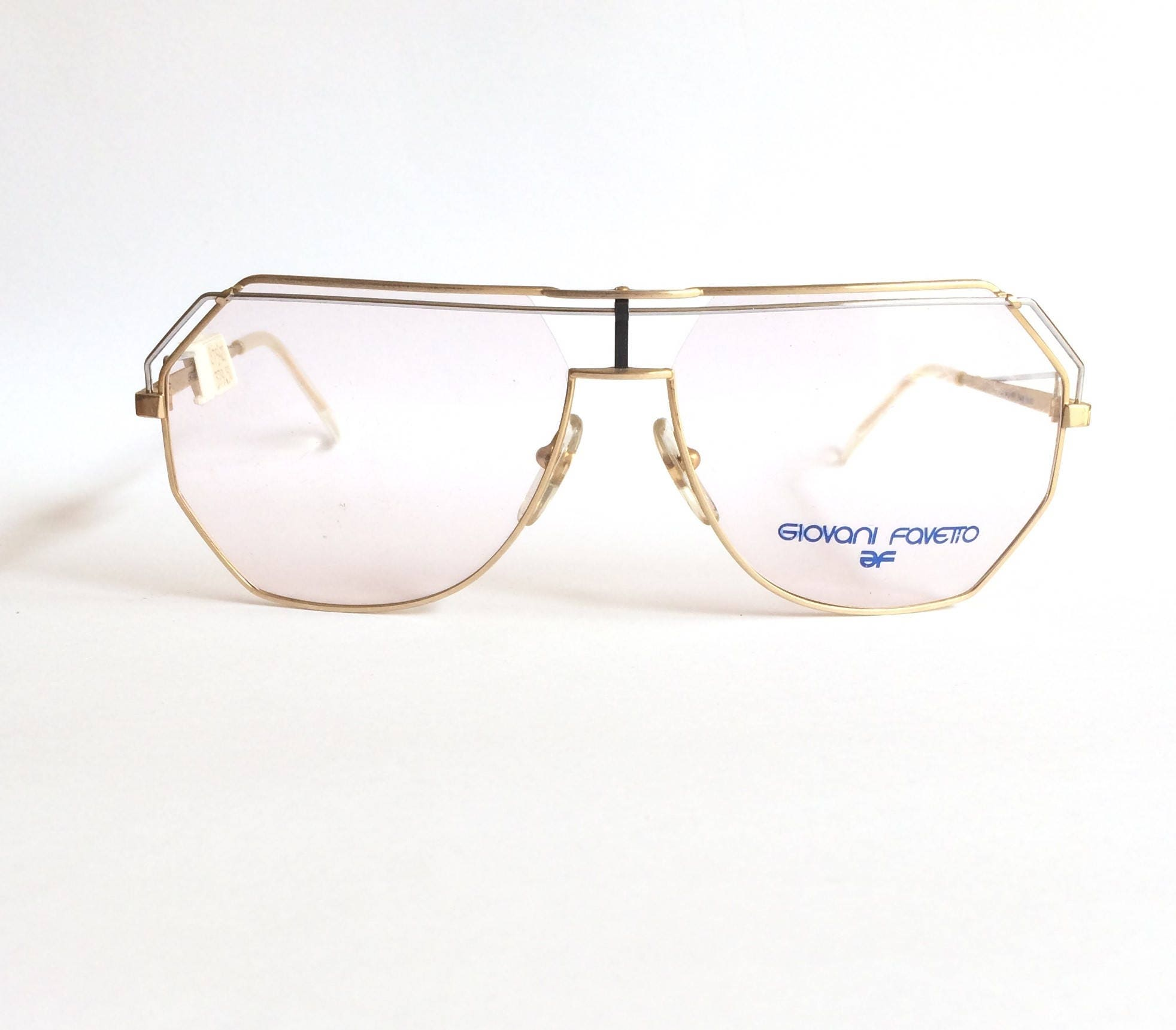 a4f66f4ca7 Deadstock vintage 1980 s Giovani Favetto GF 917-001 made in France vintage  aviator Glasses.