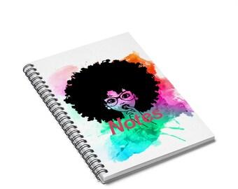 Natural Hair Journal   Custom Journal   Black Girl Journals   Notebooks For Black Women   Melanin Notebook  Spiral Notebook