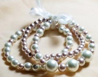 Pearl stack bracelet