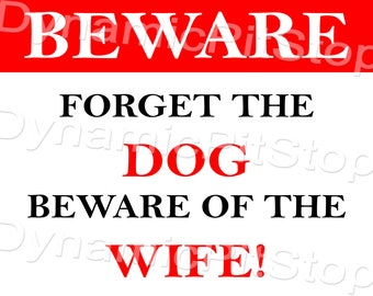 40x30cm Funny Wife Tin Sign