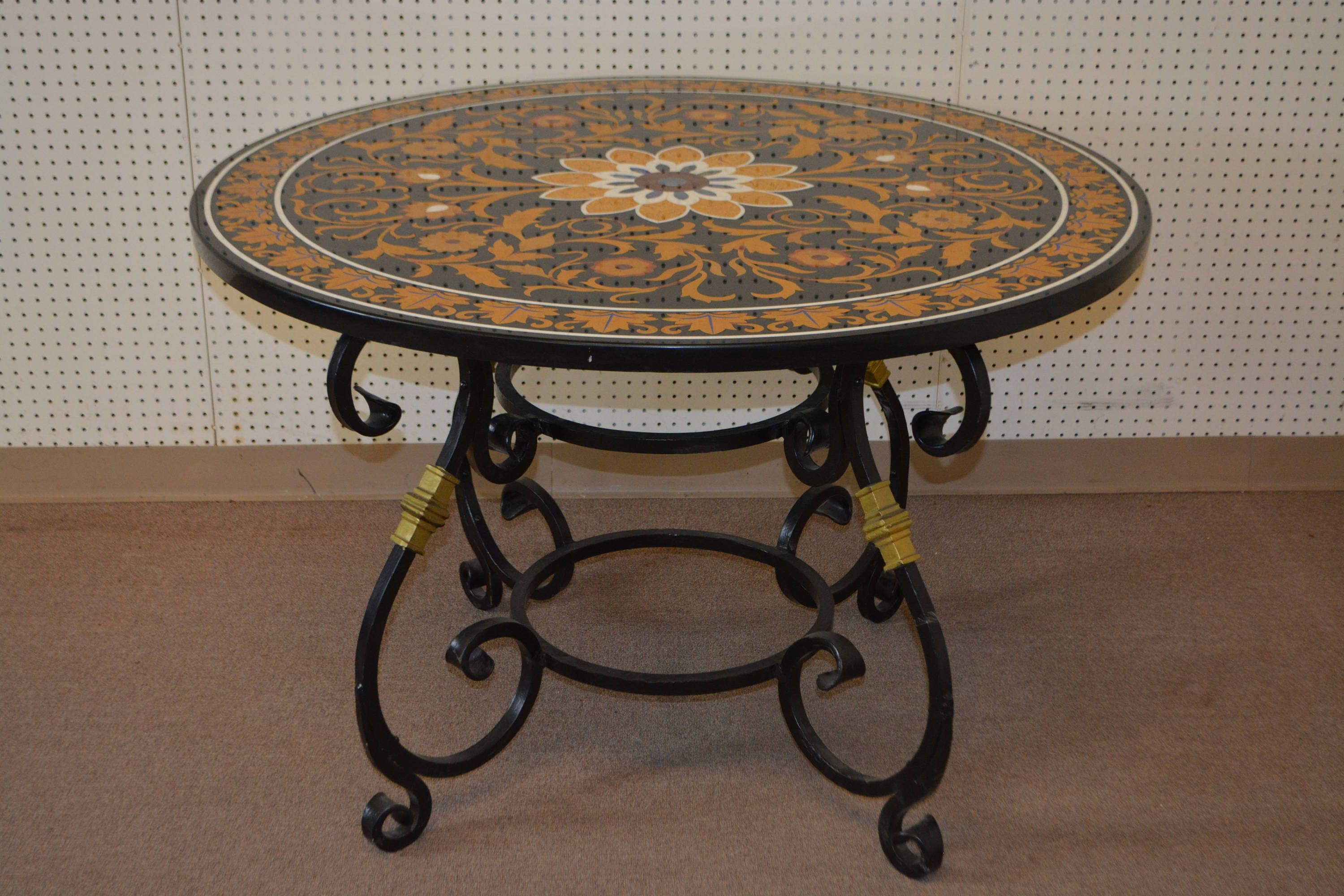 Early 20th Century Marble inlay table