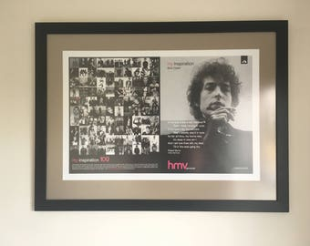 Bob Dylan Framed Poster: 'My Inspiration'